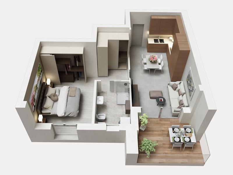 Residenza Ferraris - Albano Sant'Alessandro - Bilocale con ampio terrazzo in Classe A