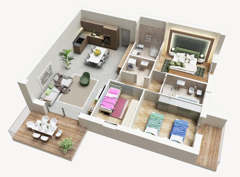 Residenza Ferraris - Albano Sant'Alessandro - Quadrilocale con ampio soggiorno e doppia esposizione in Classe A