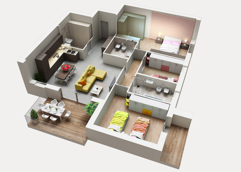 Residenza Ferraris - Albano Sant'Alessandro - Quadrilocale prestigioso con ampio soggiorno e terrazzo in Classe A