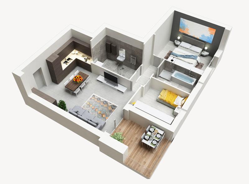 Residenza Ferraris - Albano Sant'Alessandro - Trilocale funzionale e confortevole con terrazzo in Classe A
